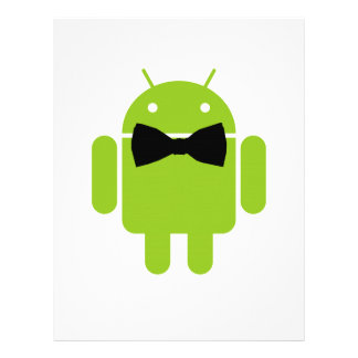 Formal Atire Green Android Robot Flyer