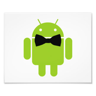 Formal Atire Green Android Robot Photo Print