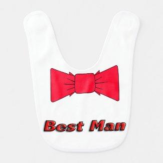 Formal baby's Bib White Bow Tie Tuxedo