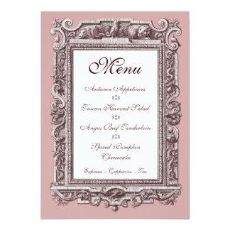 Formal Baroque 25th Anniversary Dinner Menu Card