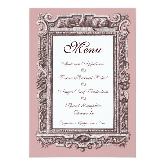 Formal Baroque 25th Anniversary Dinner Menu Invitation Zazzle Com