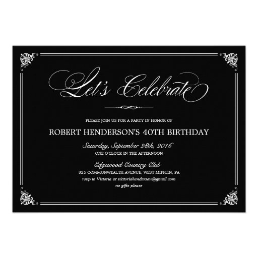 Personalized formal dinner invitations custominvitations4u formal birthday invitations filmwisefo