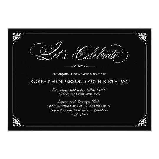 Formal Birthday Invitations | Zazzle.com