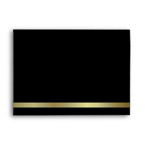 Formal Black & Gold Invitation Envelope