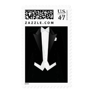 Formal Black Men's Tuxedo Suit Postage Stamp