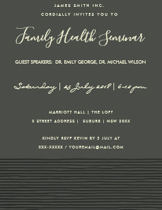 Seminar invitations zazzle formal black sketch stripe line talk seminar event invitation thecheapjerseys Images