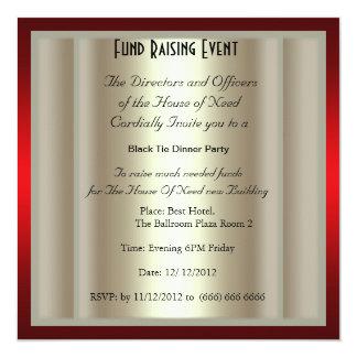 Formal Black Tie Dinner Party Invitation Invites