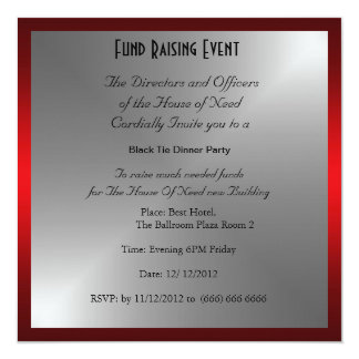 Formal Black Tie Dinner Party Invitation Announcements