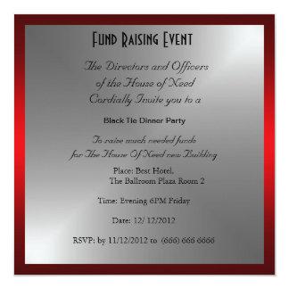 Formal Black Tie Dinner Party Invitation
