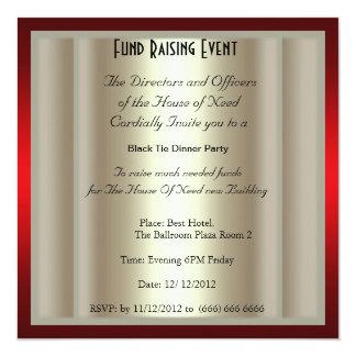Formal Black Tie Dinner Party Invitation Custom Invites