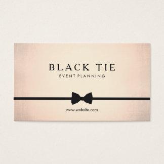 Formal Black Tie Event Planner Gold (no shine) Business Card