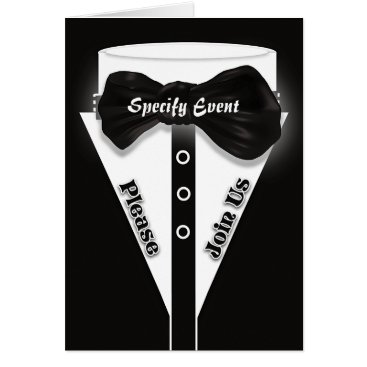 Professional Business Formal black tie stylish | Personalize Card