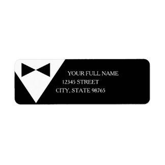 Formal Black Tuxedo Mailing Address Labels