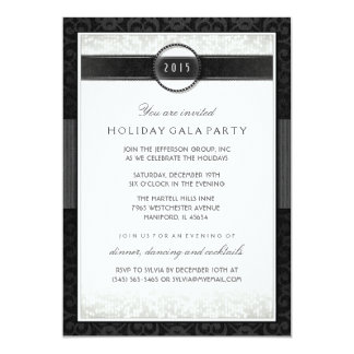 Formal event invitations announcements zazzle formal black amp white company event invitation stopboris Images