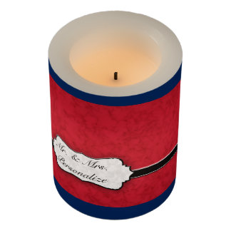 Formal Blue and Red Patriotic Wedding Tea Lights Flameless Candle