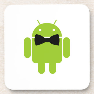 Formal Bow Android Robot Beverage Coaster