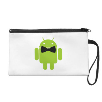 Formal Bow Android Robot Wristlet Purse