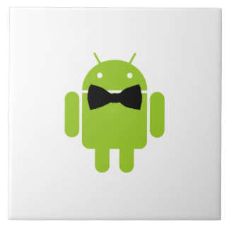 Formal Bow Tie Android Robot Icon Tile