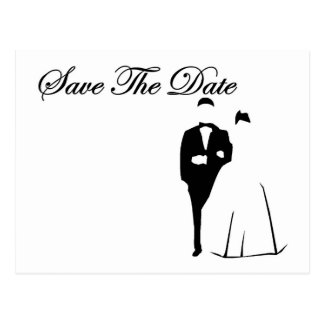Formal Bride and Groom Save The Date Postcard