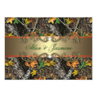 Formal Camo Wedding Invitations 5x7