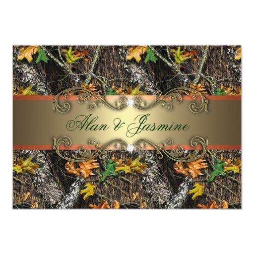 "Formal Camo Wedding Invitations 5x7 5"" X 7"" Invitation Card"