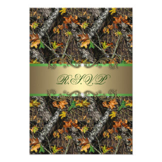 Formal Camo Wedding RSVP Cards Personalized Invite