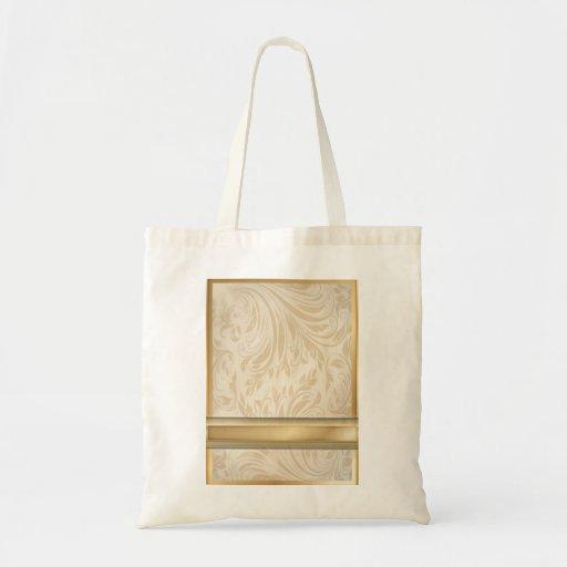 Formal champagne gold Damask Wedding Bag