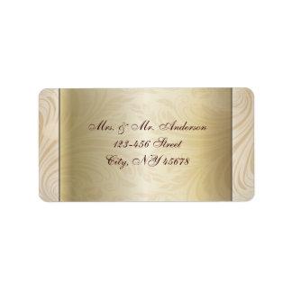 Formal champagne gold Wedding Address Labels