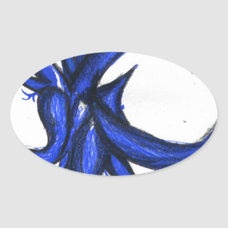 Formal Chaotic Entropic Entity Oval Sticker