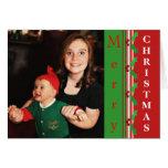 Formal Christmas Custom Photo & Text Card
