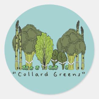 Formal Collard Greens Classic Round Sticker