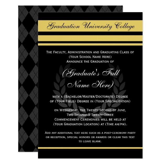 formal college graduation announcements