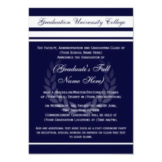 Formal College Graduation Announcements (Blue)