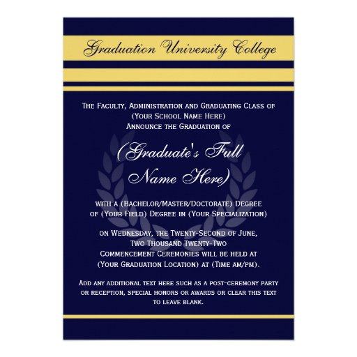 Formal Graduation Invitations can inspire you to create best invitation template