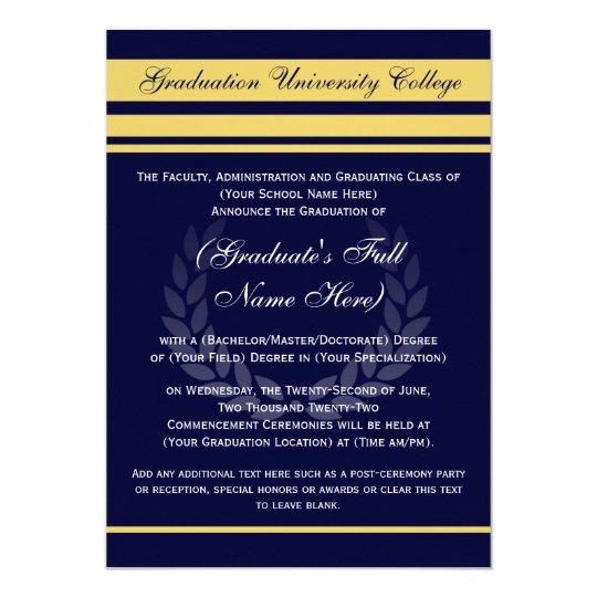 Formal College Graduation Announcements ~ Blue | Zazzle.com