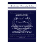 "Formal College Graduation Announcements (Blue) 5"" X 7"" Invitation Card"