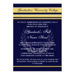"Formal College Graduation Announcements ~ Blue 5"" X 7"" Invitation Card"