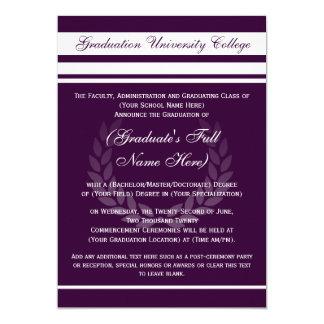 Formal College Graduation Announcements (Purple)