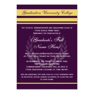Formal College Graduation Announcements ~Purple