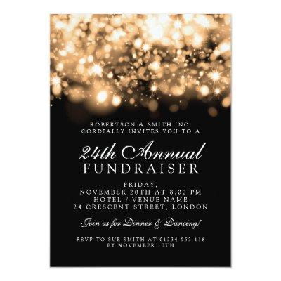 Formal corporate gala purple sparkling lights invitation zazzle stopboris Images