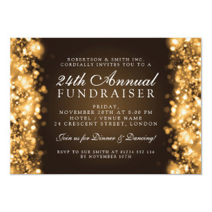 Business gala dinner invitations announcements zazzle formal corporate party fundraiser gala gold invitation stopboris Choice Image