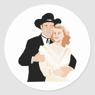 Formal Country Wedding Stickers