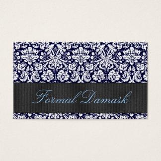 Formal Damask Horizontal - Custom Color Business Card