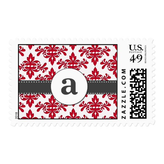 Formal Damask Monogram Postage