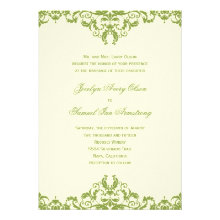 Formal Damask Wedding Invitations