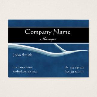 Formal Dark Blue Business Card