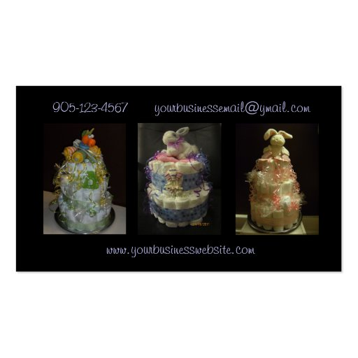 Diaper cake business business card templates bizcardstudio formal diaper cakes business card reheart Choice Image
