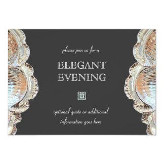 Formal Dining Silver Serving Platter Card