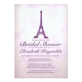 "Formal Eiffel Tower Bridal Shower Invitations 5"" X 7"" Invitation Card"
