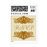 Formal Elegance Wedding RSVP Stamp